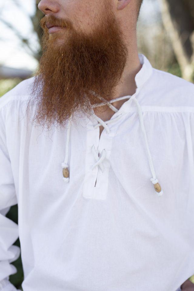 Mittelalterhemd weiß 3