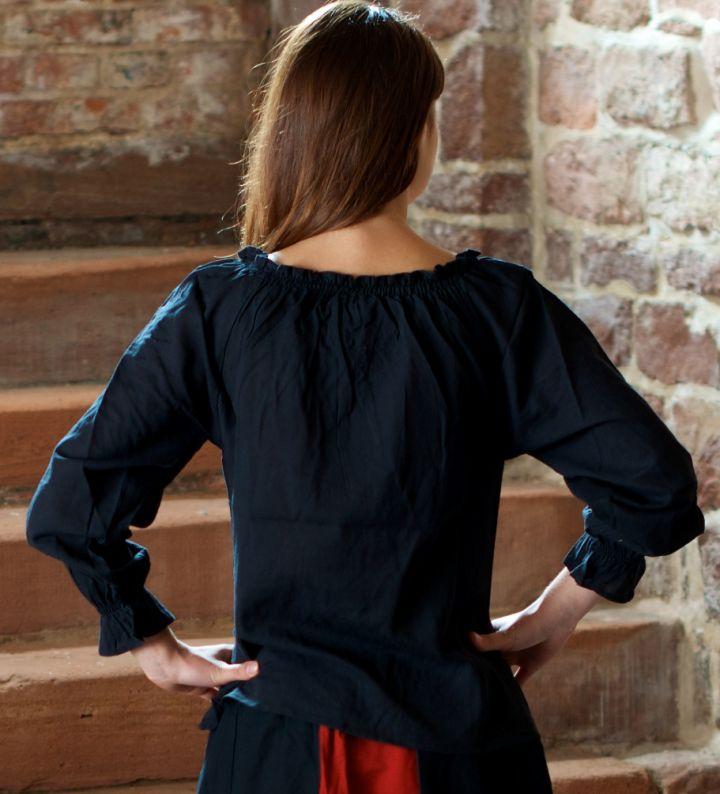 Bluse mit Schnürung schwarz L 3