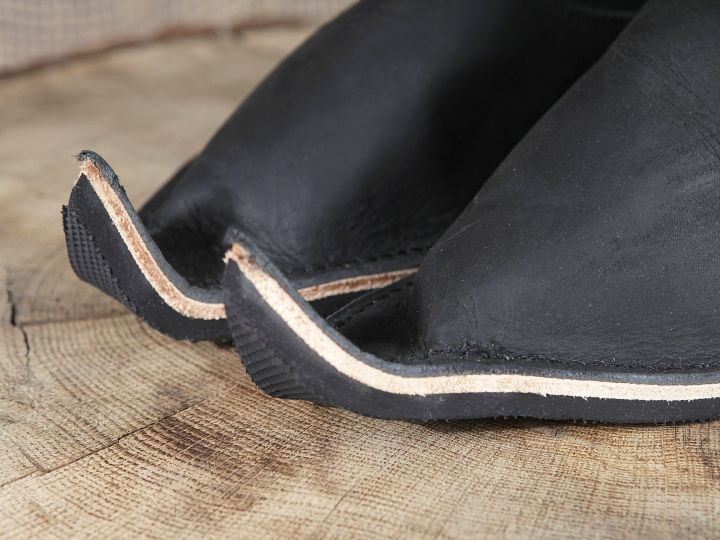 Lederstiefel aus Nubukleder schwarz 3