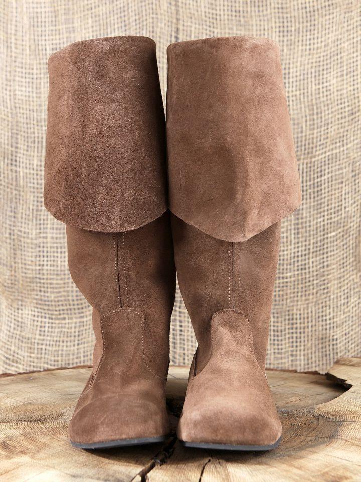 Stiefel mit Stulpe aus Wildleder 3