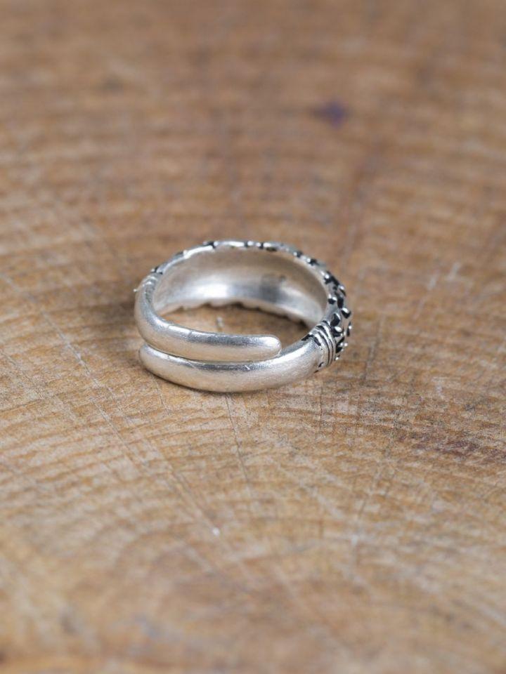 """Wikinger-Ring """"Falster"""" versilbert S 3"""