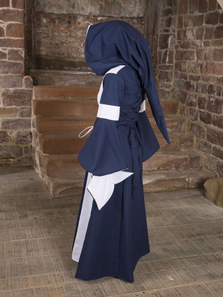Baumwollkleid Minna blau-weiß 50 3