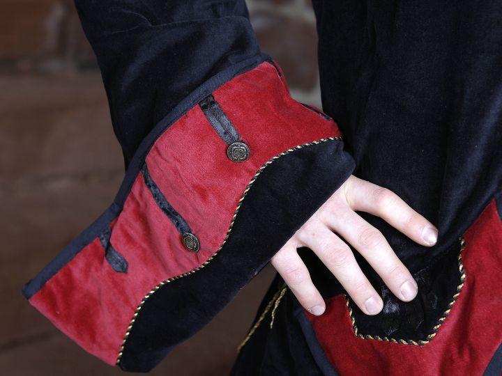 Prunkjacke Gehrock in schwarz-rot 3