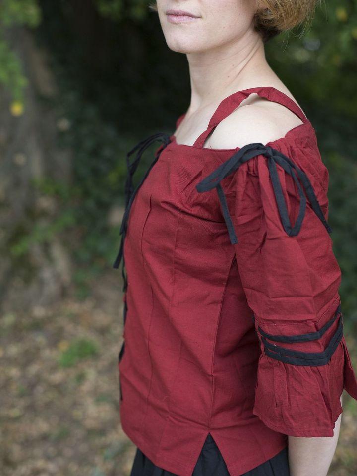 Bluse mit verstellbaren Trägern, rot-schwarz XXL 3