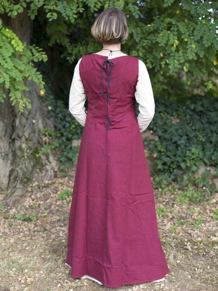 Ärmelloses Trägerkleid aus Canvas rot M 3