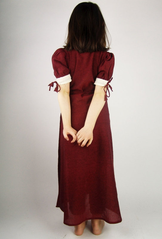 Leichtes Kinderkleid rot 3