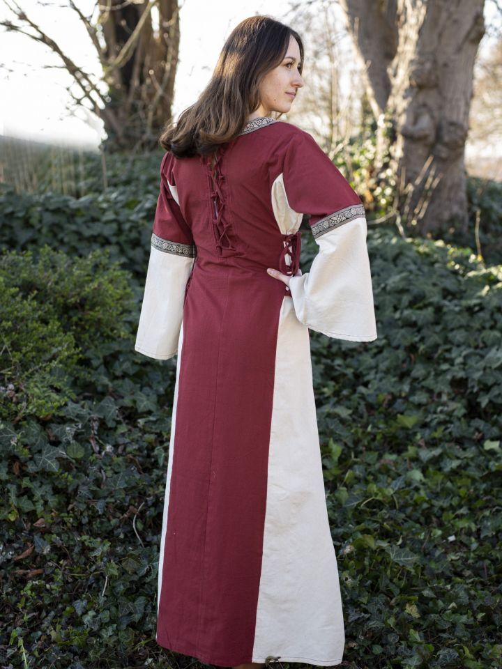 Kleid Klarissa rot-natur 3
