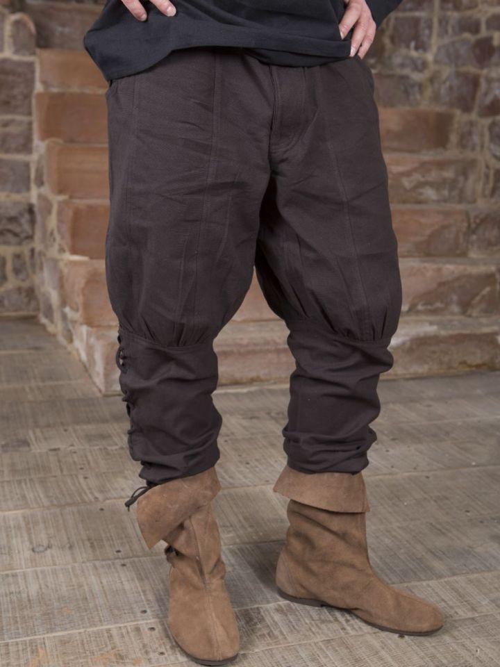 Hose mit Beinschnürung braun S 3