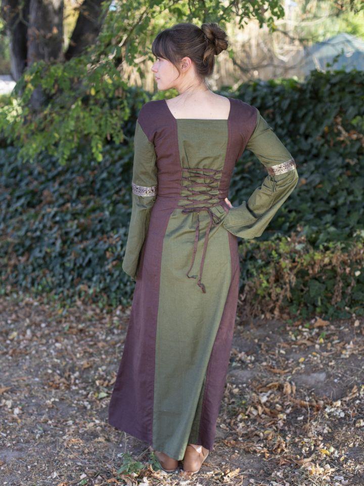 Mittelalterkleid mit abnehmbaren Ärmeln oliv-braun XXL 3