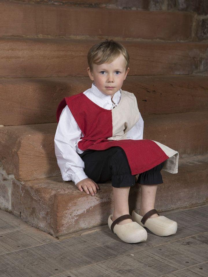 Waffenrock für Kinder 128 | natur/rot 3