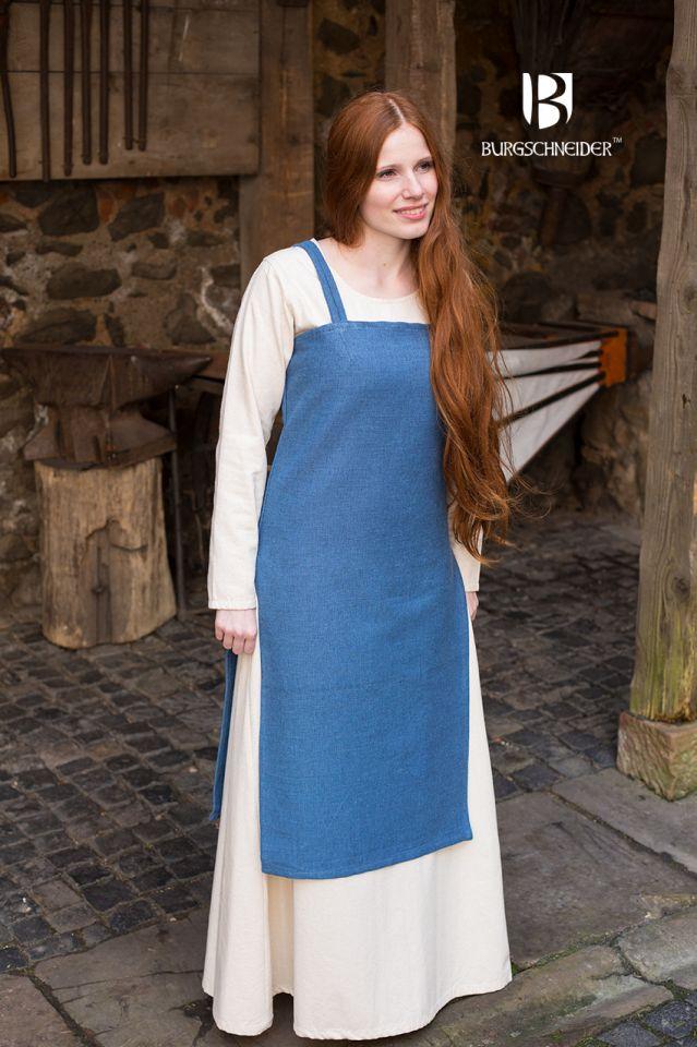 Wikingerkleid Frida - meerblau 3