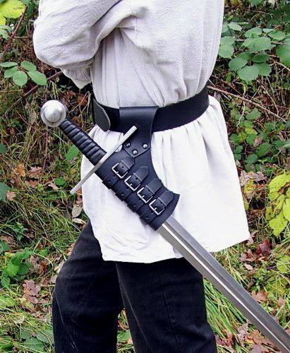 Schnall-Schwerthalter braun 3