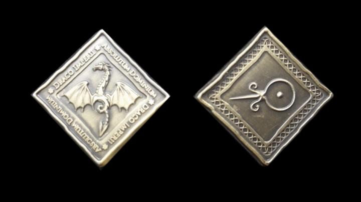 LARP-Münzen Drachen 3