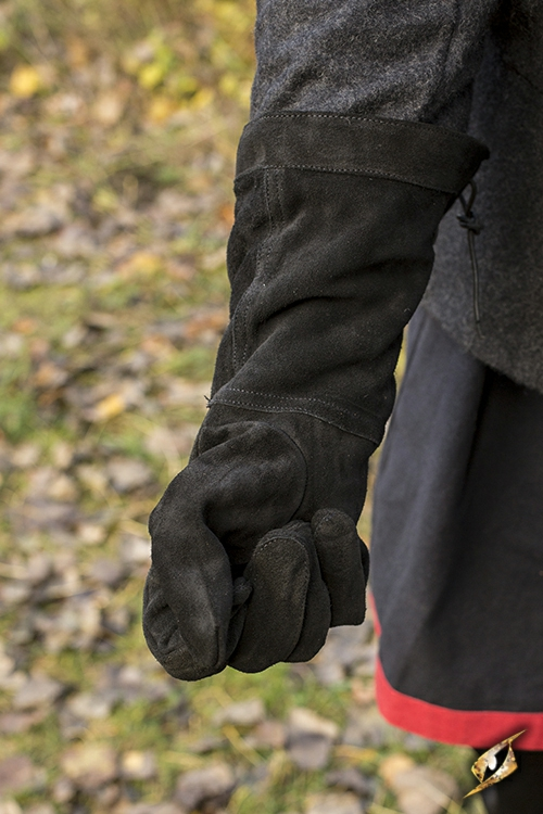 Wildlederhandschuhe schwarz M 3