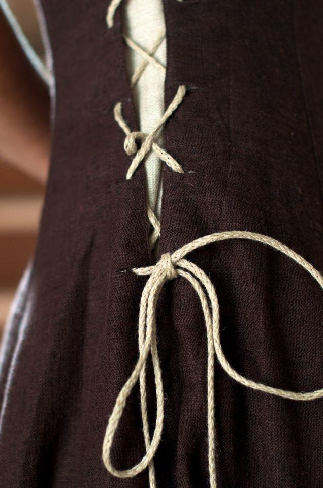 Ärmelloses Kleid braun M 3