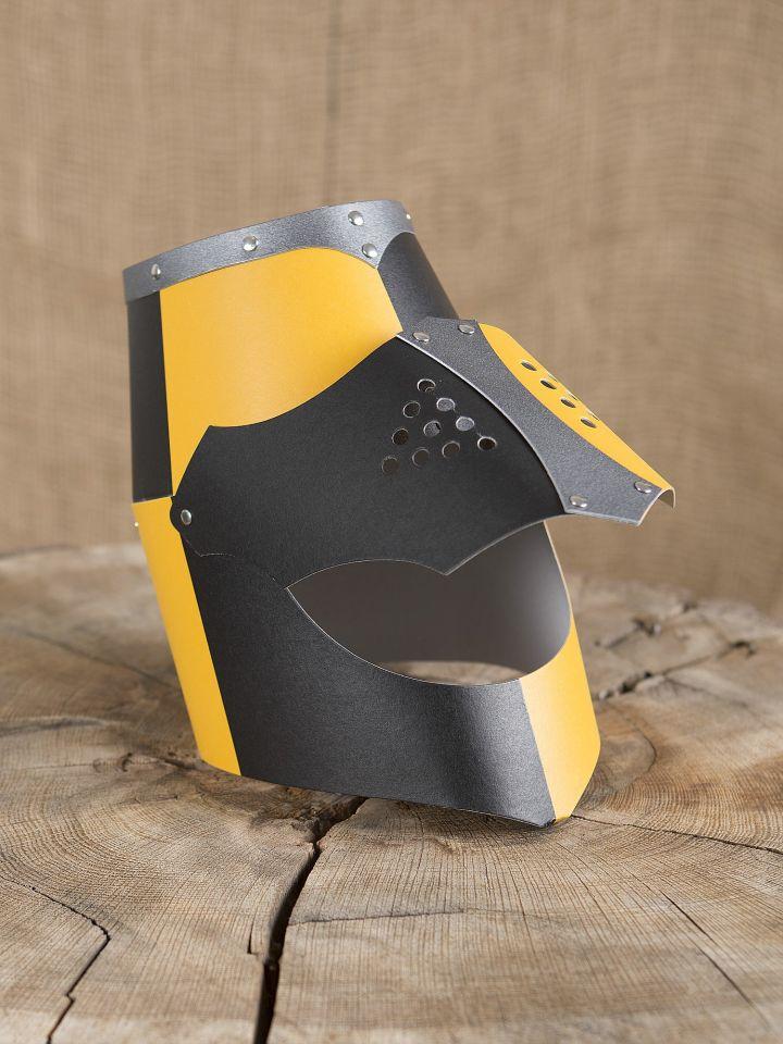 Normannenhelm für Kinder gelb-schwarz 3