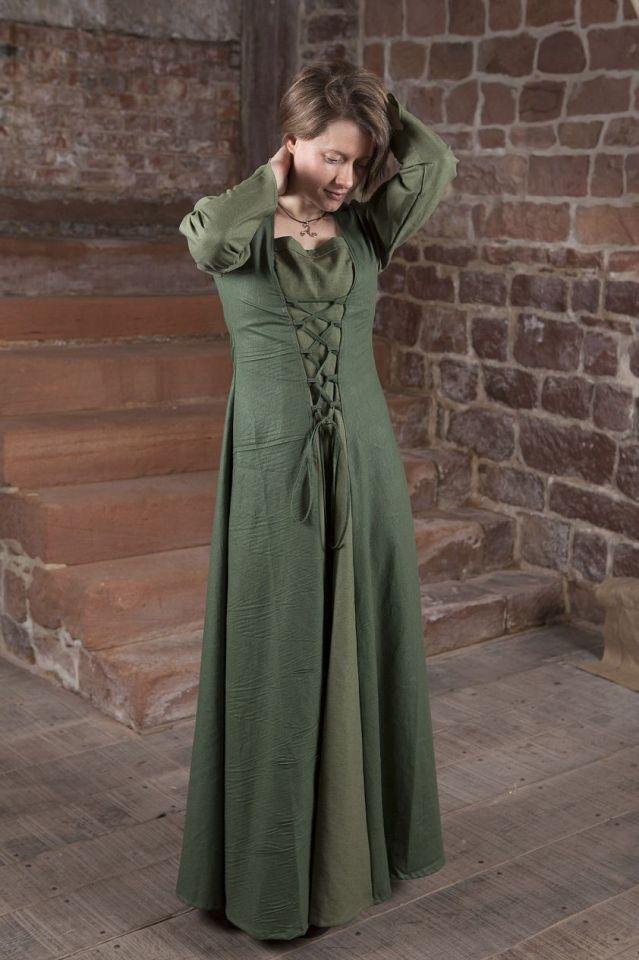 Mittelalterkleid Larea in grün 40 3