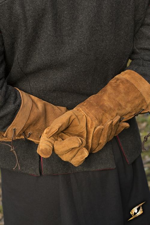 Wildlederhandschuhe braun L 3