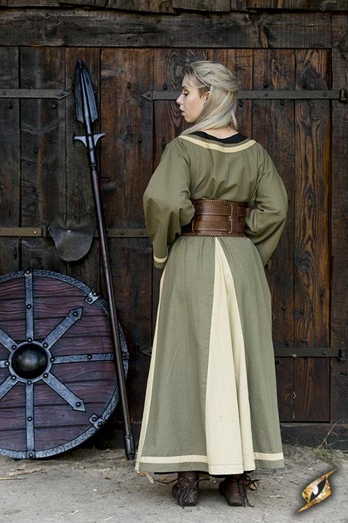 Kleid Astrid oliv-sand 3