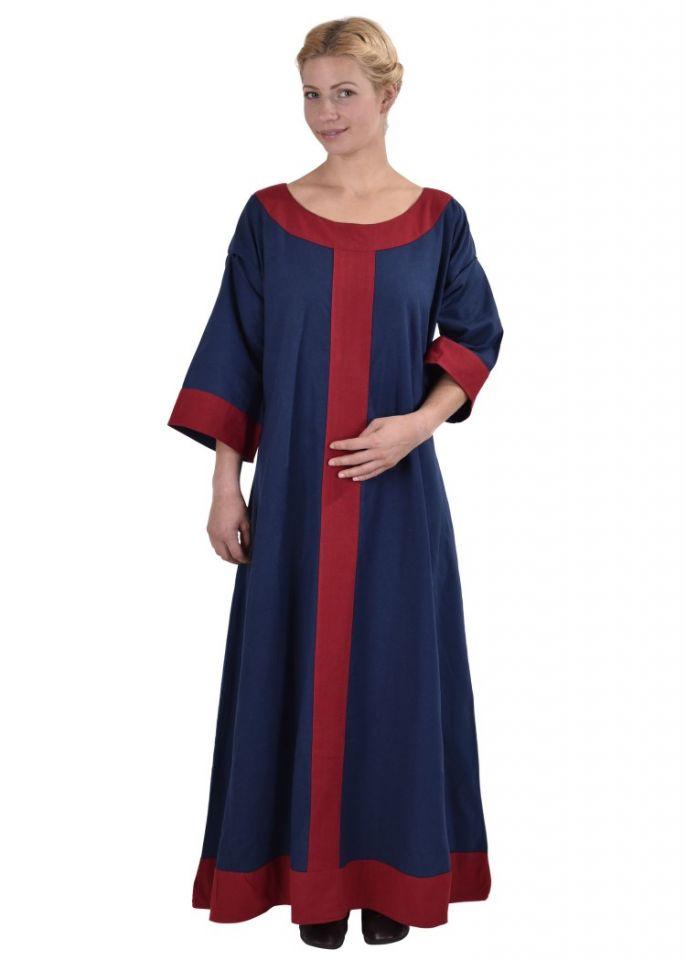 Mittelalterkleid Radegundis blau-rot 3