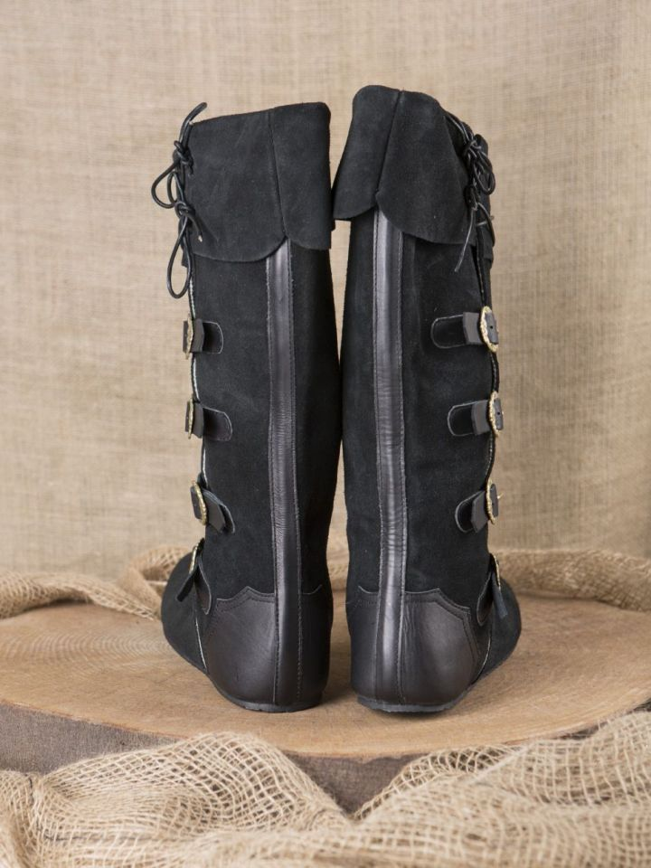 Mittelalter Stiefel Sewolt schwarz 41 3