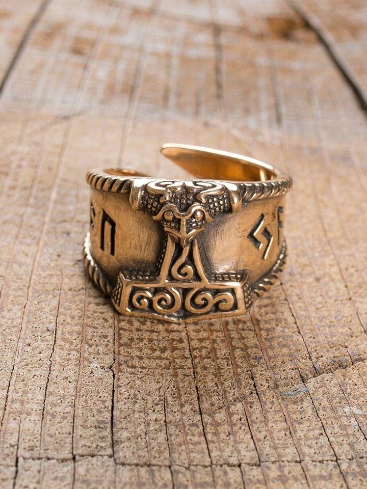 """Ring """"Thorshammer"""" groß   Bronze 3"""
