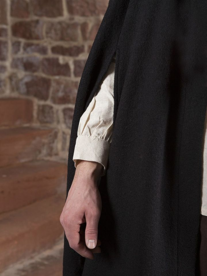 Umhang Walkloden in schwarz Länge ab Schulter 140 cm 3