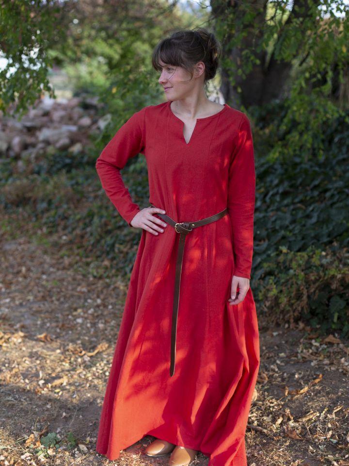 Schlichtes Unterkleid rot 3