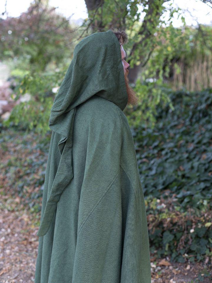 Kapuzenumhang aus Baumwolle grün 3