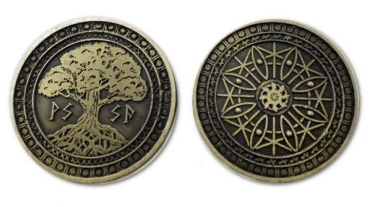 LARP-Münzen Erde ohne Lederbeutel 3