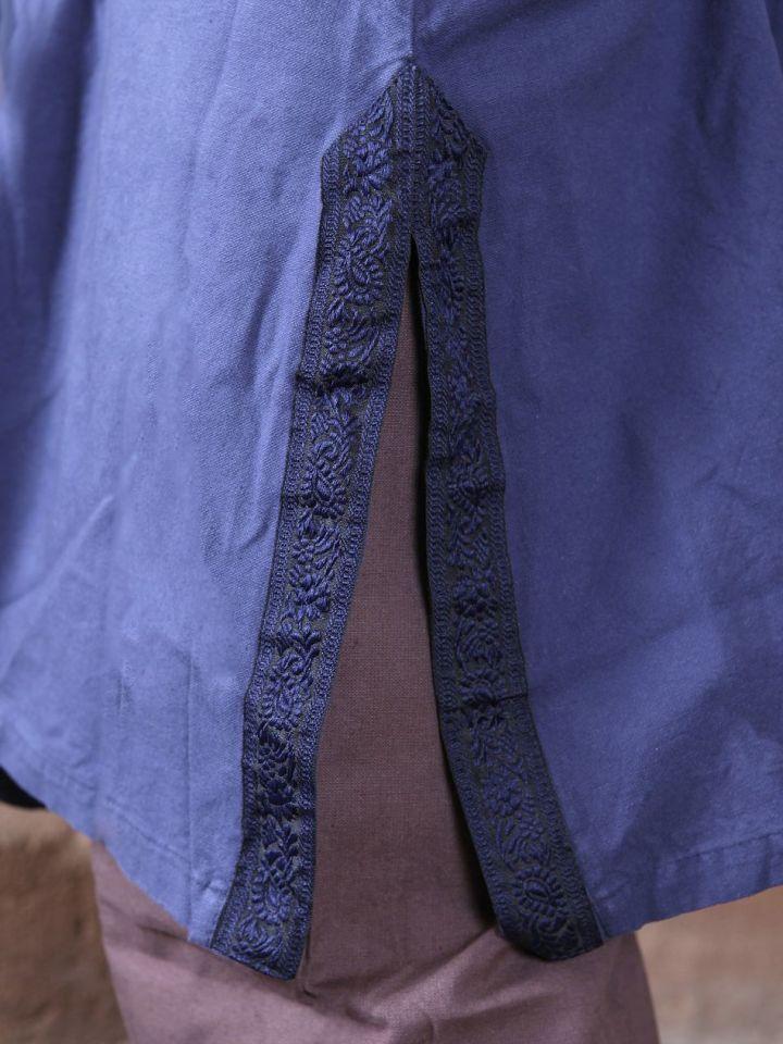 Tunika mit Bordüre, blau XL 3