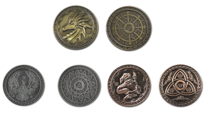 LARP-Münzen Magier 3