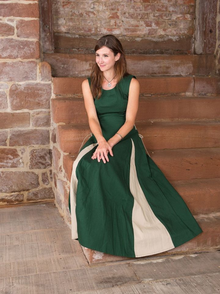 Ärmelloses Kleid grün L 3