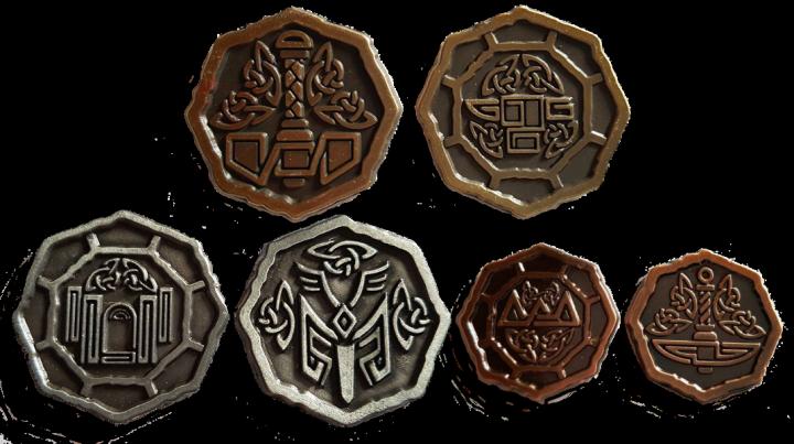 LARP-Münzen Altzwergisch 3