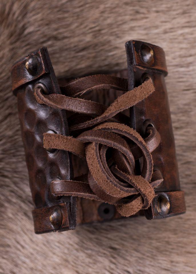 Schlichter Armschutz aus Leder klein 3