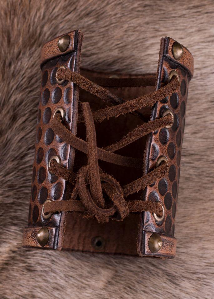 Schlichter Armschutz aus Leder groß 3