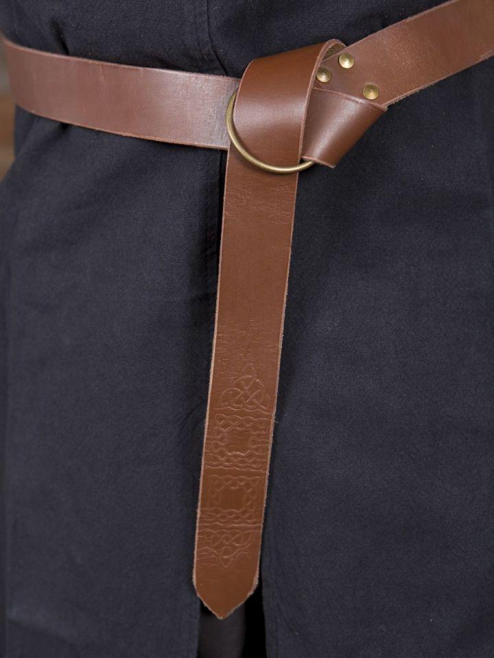Ringgürtel mit Prägung braun 190 cm 3