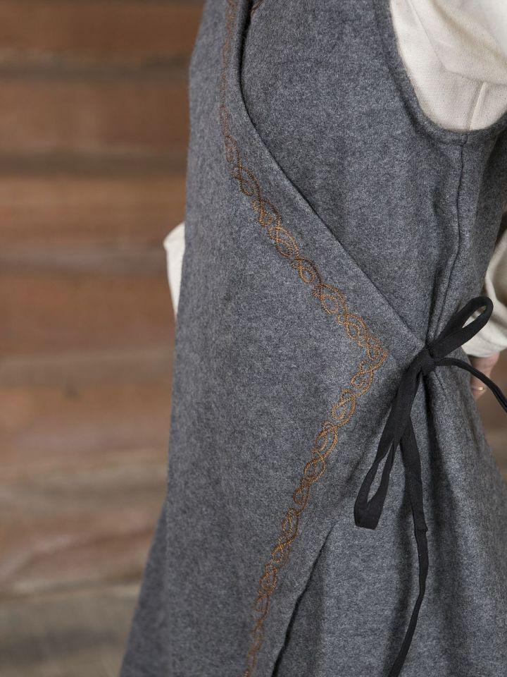 Wickelkleid Dala aus Wollfilz grau S/M 3