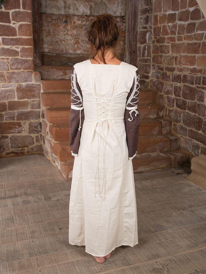 Mittelalterkleid Martha, braun-natur 3