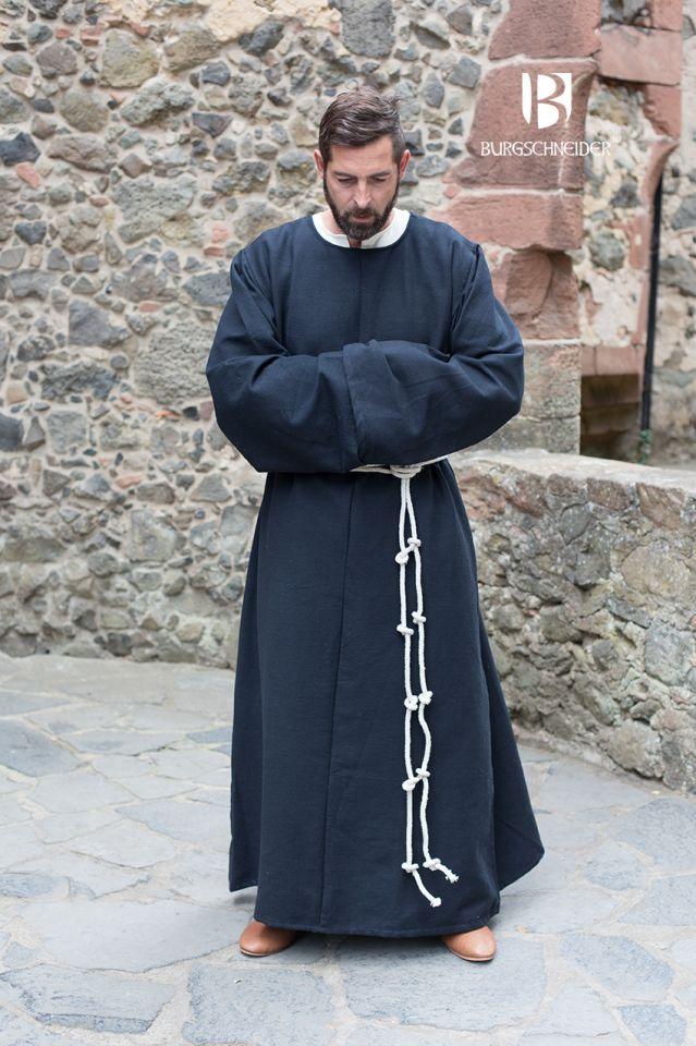 Mönchskutte Benediktus schwarz 3