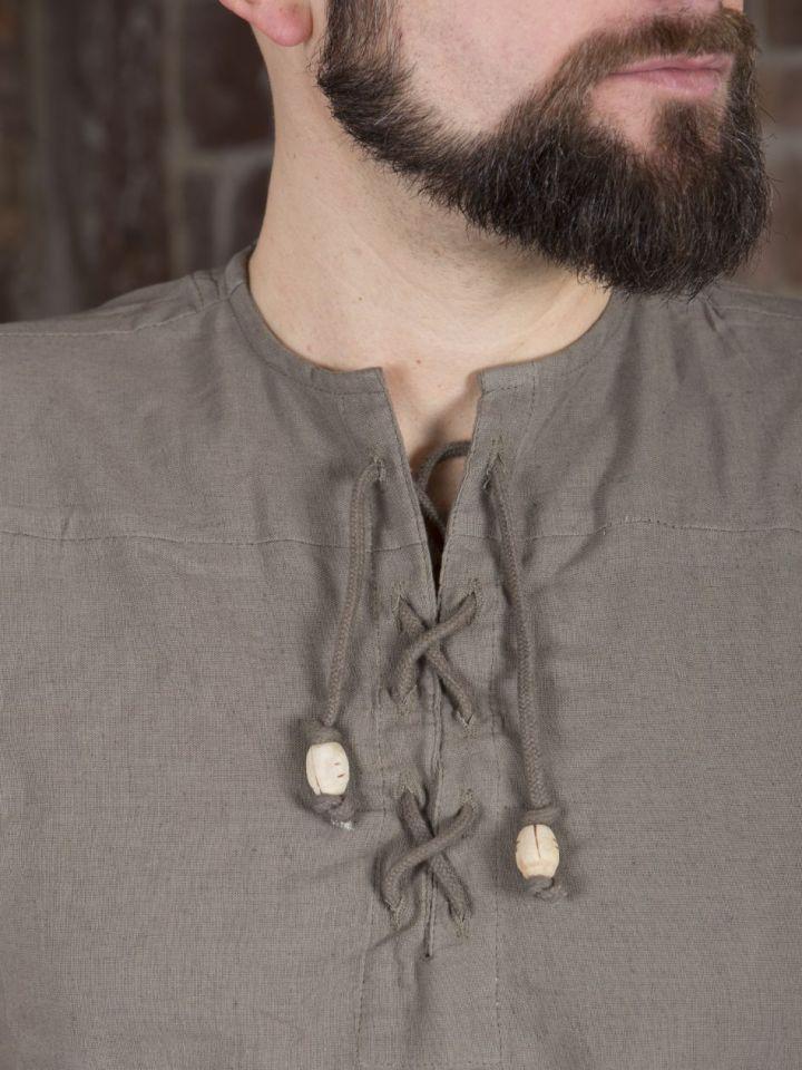 Ärmelloses Hemd ohne Kragen natur XXXL 3