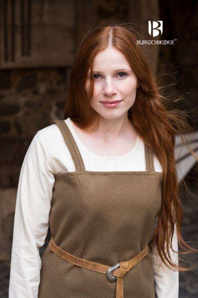 Wikingerkleid Jodis - Wolle, herbstgrün M 3