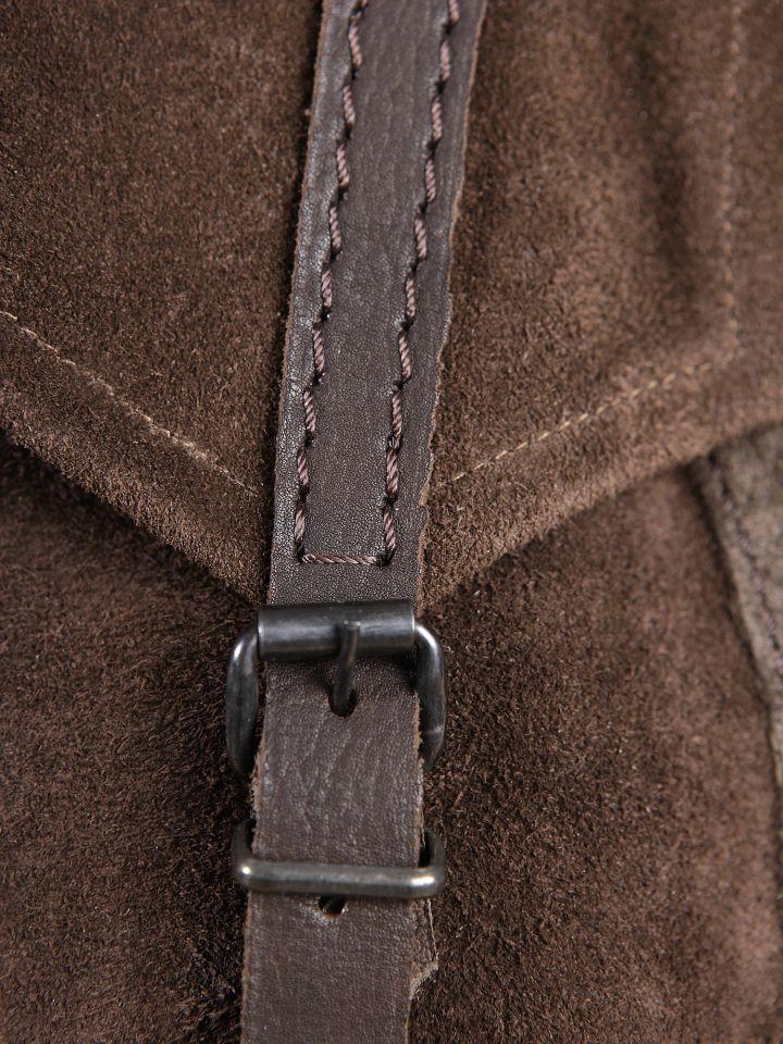 Braune Wildledertasche zum Umhängen 3