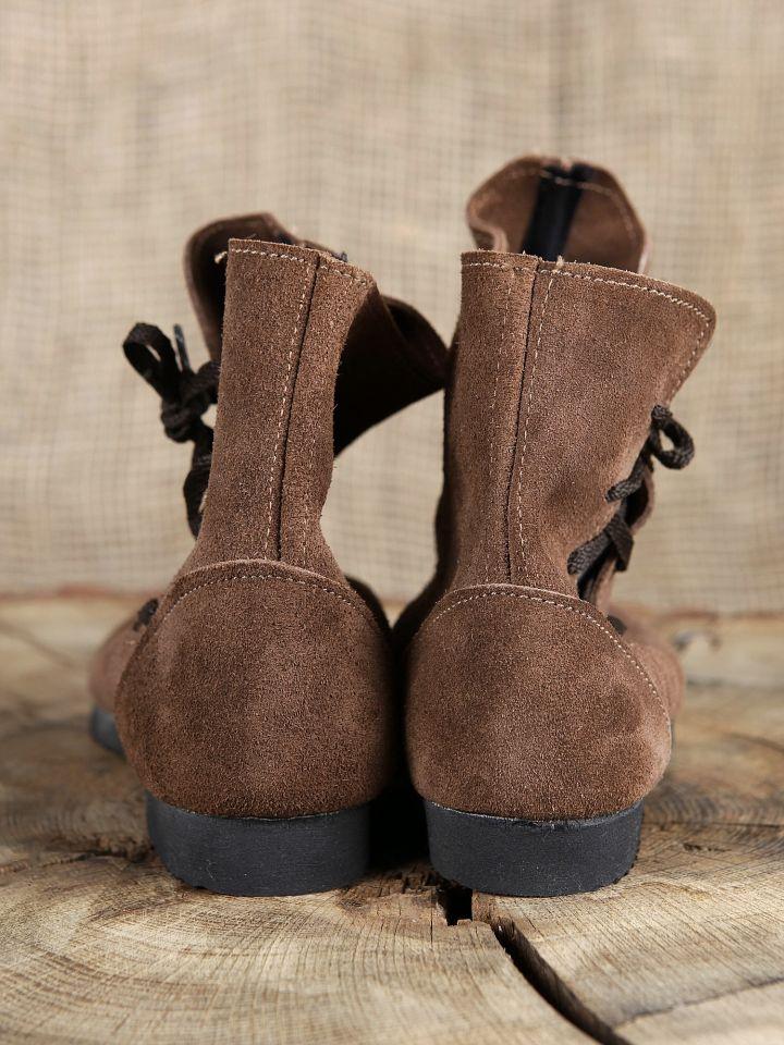 Schuh nach historischem Vorbild (aus Velourleder) 3