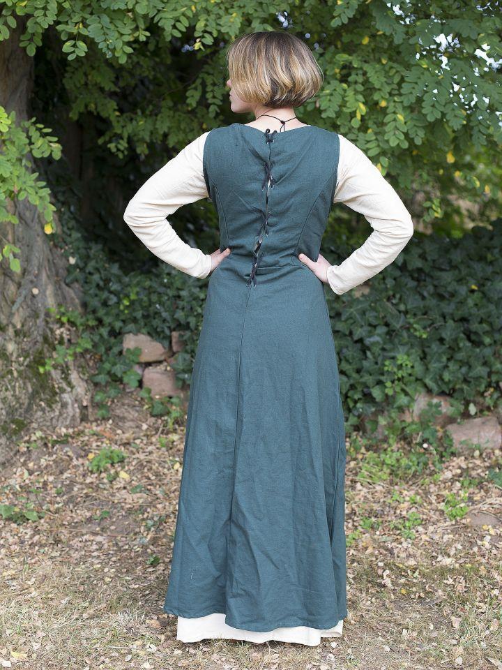 Ärmelloses Trägerkleid aus Canvas grün L 3