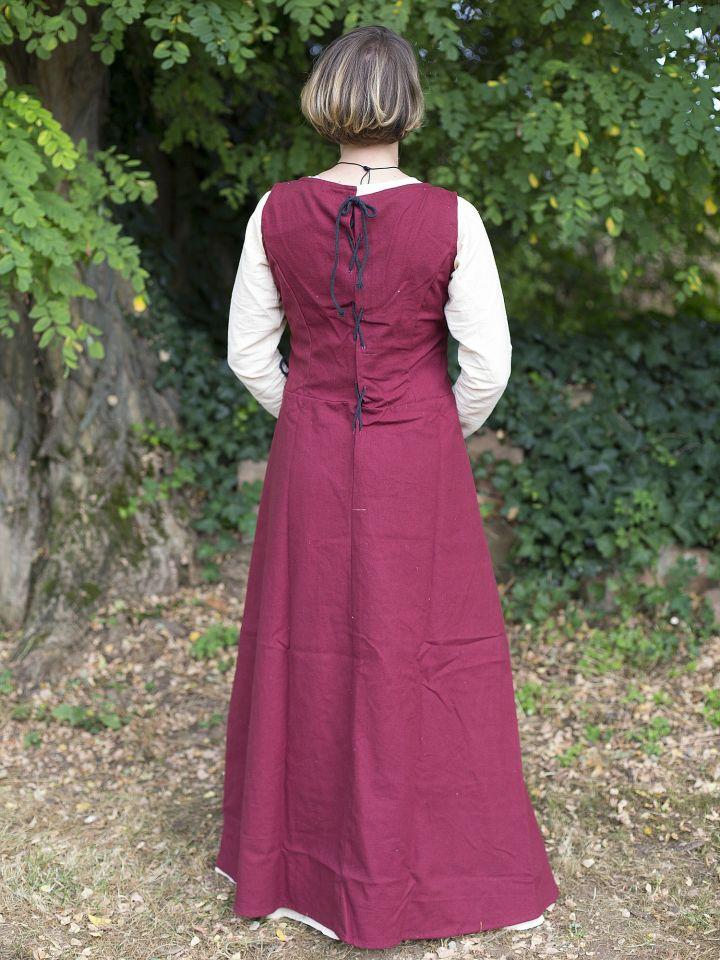 Ärmelloses Trägerkleid aus Canvas rot 3