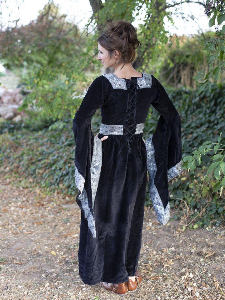 Kleid Burgund in schwarz 3