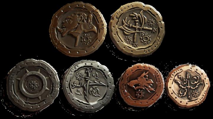 LARP-Münzen Ork ohne Lederbeutel 3