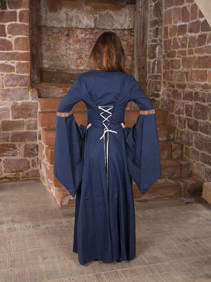 Mittelalterkleid Rahel in blau XL 3