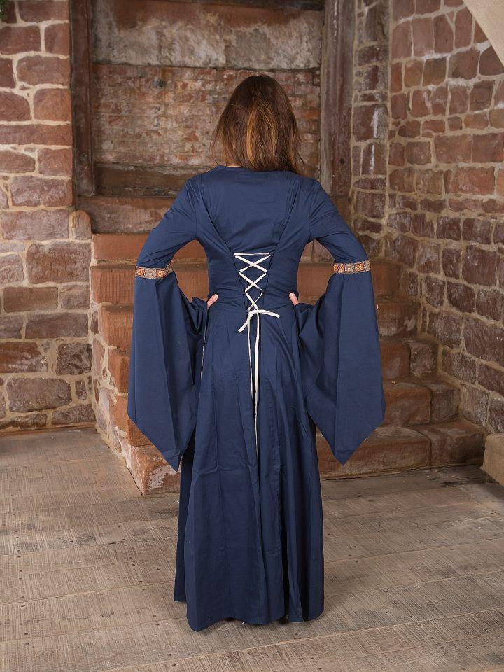 Mittelalterkleid Rahel in blau 3